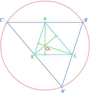 triángulo circunscrito