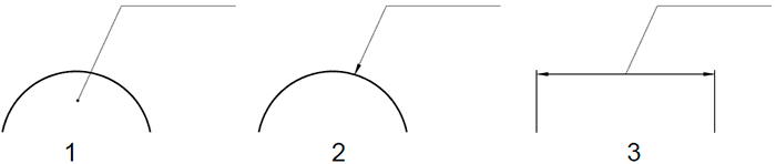 terminacion de las lineas de referencia